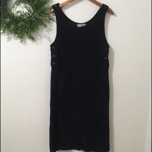 Vintage J Jill Navy Corduroy Jumper/Dress